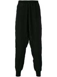Lost And Found Rooms Loose Fit Over Trousers Linen Flax Black