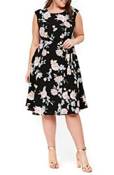 Evans Plus Size Floral Print Tie Waist Dress