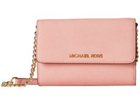 Michael Michael Kors Jet Set Travel Large Phone Crossbody Pale Pink Cross Body Handbags