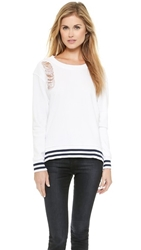 Stateside Distressed Sweatshirt White
