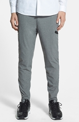 Ourcaste 'The Anderson' Woven Jogger Pants Light Grey