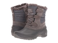 The North Face Shellista Ii Shorty Dark Gull Grey Cloud Grey Women's Lace Up Boots Black