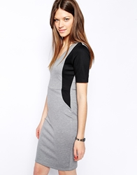Vila Flakka Pencil Midi Dress Greyblack