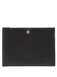 Thom Browne Large Pebbled Leather Document Holder Black