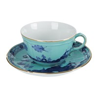 Richard Ginori 1735 Oriente Italiano Iris Teacup And Saucer