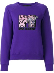Marc Jacobs Raglan Sweatshirt Pink Purple