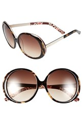 Women's Kensie 'Kyla' 54Mm Sunglasses Dark Tortoise Polka Dot