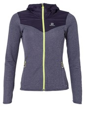 Salomon Sports Jacket Nightshade Grey Dark Purple