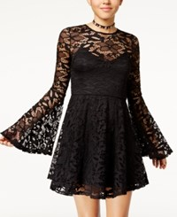Material Girl Juniors' Lace Fit And Flare Dress Created For Macy's Caviar