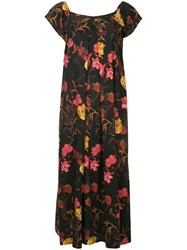 Mother Of Pearl Rachel Floral Print Dress Black