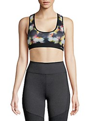 X By Gottex Geometric Print Sports Bra Black