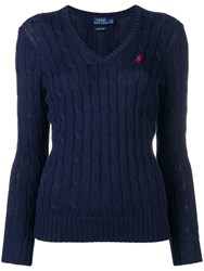 Polo Ralph Lauren Cable Knit Pullover Blue