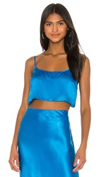 Amanda Uprichard X Revolve Lia Crop Top In Blue. Sky