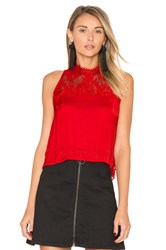 Free People Tied To You Lace Top Red