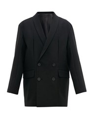 Wooyoungmi Oversized Double Breasted Wool Blazer Black