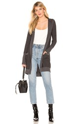Chaser Open Front Hooded Cardigan With Pockets Black