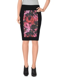 Leitmotiv Knee Length Skirts Black
