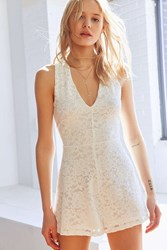 Kimchi And Blue Lace V Neck Romper White