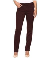 Nydj Sheri Slim In Super Sculpting Denim In Brandy Wine Brandy Wine Women's Jeans Burgundy