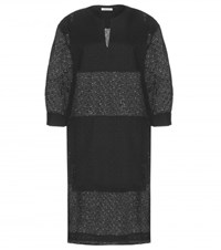 Tomas Maier Eyelet Lace Dress Black