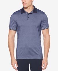 Perry Ellis Colorblocked Cotton Polo Ink