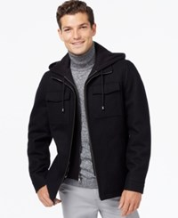 Inc International Concepts Hooded Wool Blend Jacket Only At Macy's