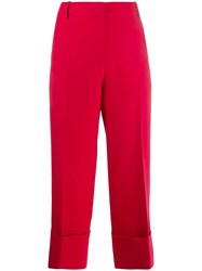 Valentino Straight Leg Trousers Red