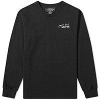 Neighborhood Long Sleeve Abjad Tee Black