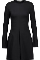 Acne Studios Ivi Flared Stretch Cotton Jersey Mini Dress Black