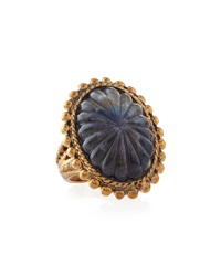 Stephen Dweck Faceted Oval Labradorite Ring Size 7