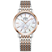 Rotary Lb90191 41 Women's Les Originales Bracelet Strap Watch Silver Rose Gold