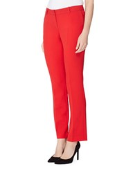 Tahari By Arthur S. Levine Straight Leg Dress Pants Tomato Red