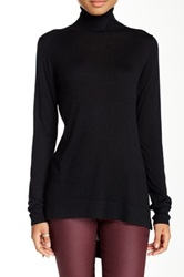 Cullen Hi Lo Turtleneck Sweater Black