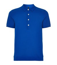 Versus By Versace Versus Versace Lion Back Polo Shirt Male Blue