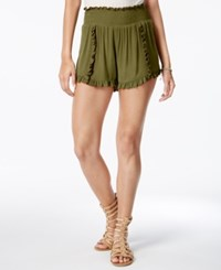 American Rag Ruffled Soft Shorts Only At Macy's Olive