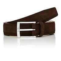 Crockett Jones And Men's Suede Belt Dark Brown