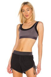 Free People Movement Two Become One Sports Bra Charcoal
