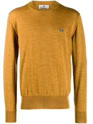 Vivienne Westwood Embroidered Logo Jumper Yellow