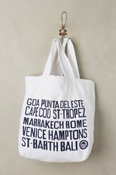 Anthropologie Beach Cities Tote White