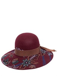 Etro Floral Hand Embroidered Wool Hat