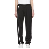 Helmut Lang Black And White Sport Striped Track Pants