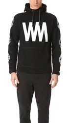 White Mountaineering Wm Printed Fleece Lining Pullover Black