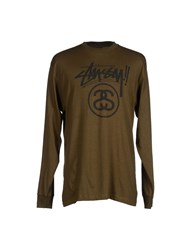 Stussy Authentic Gear Topwear T Shirts Men Military Green