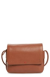 Ed Ellen Degeneres Small Monterey Leather Crossbody Bag Brown Dark Umber Heather Grey