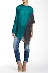 Wooden Ships Colorblock Poncho Green