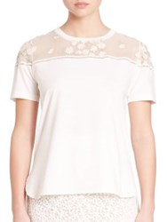 Giambattista Valli Sheer Daisy Yoke Tee