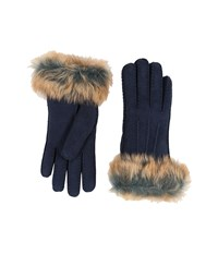 Ugg Three Point Glove W Toscana Trim Indigo Multi Extreme Cold Weather Gloves Purple