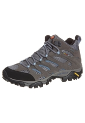 Merrell Moab Mid Hiking Shoes Grey Periwinkle