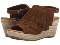 Minnetonka Ashley Dusty Brown Women's Wedge Shoes