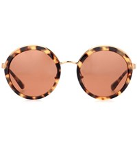 Prada Round Tortoiseshell Sunglasses Brown